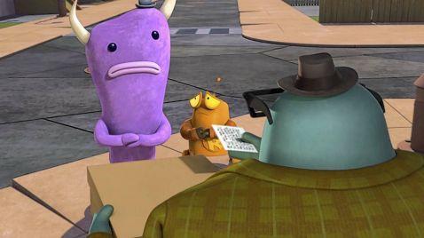 Robot und Monster