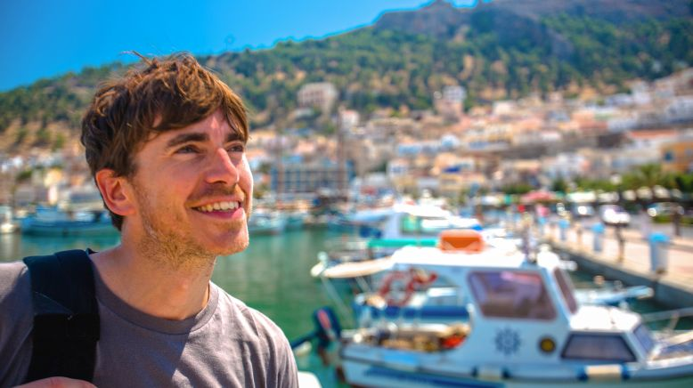 Simon Reeve in Griechenland